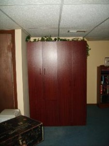 Mahogony stand alone closet