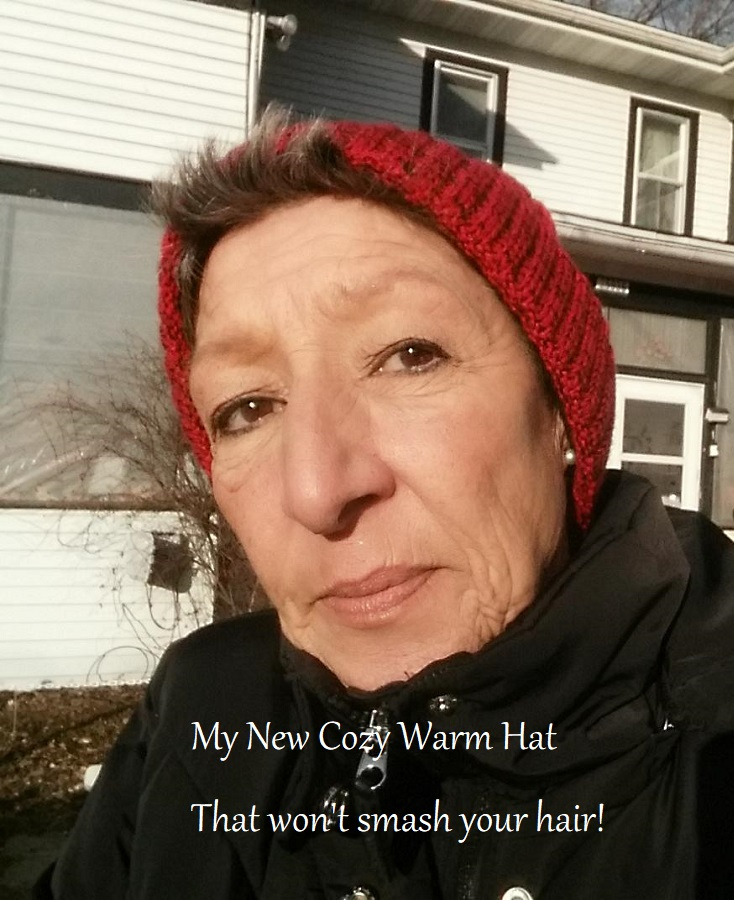 warm hat that won't smash your hair