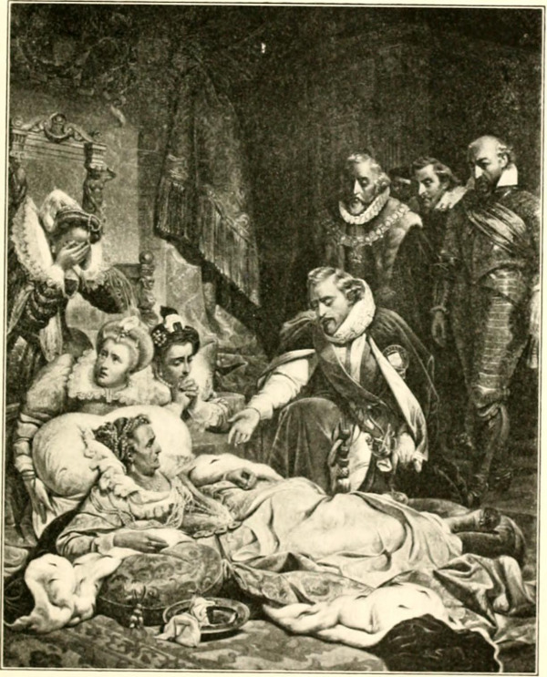 Rich Lady on Death Bed