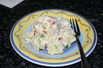 English: fresh potato salad