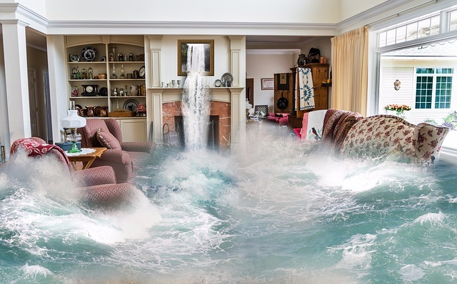 waterfall living room