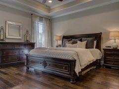 Clean, comfortable bedroom